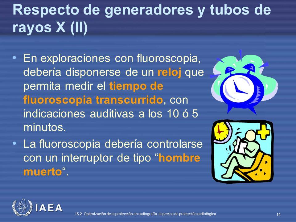 Respecto de generadores y tubos de rayos X (II)