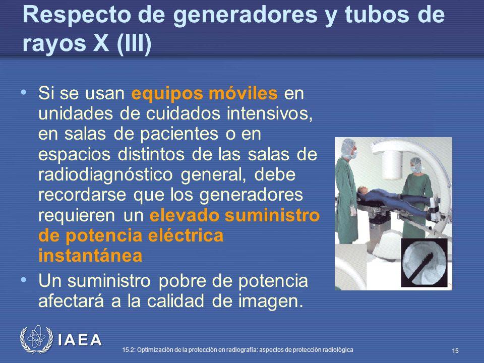 Respecto de generadores y tubos de rayos X (III)