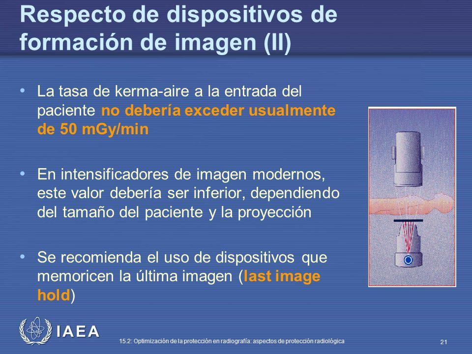 Respecto de dispositivos de formación de imagen (II)