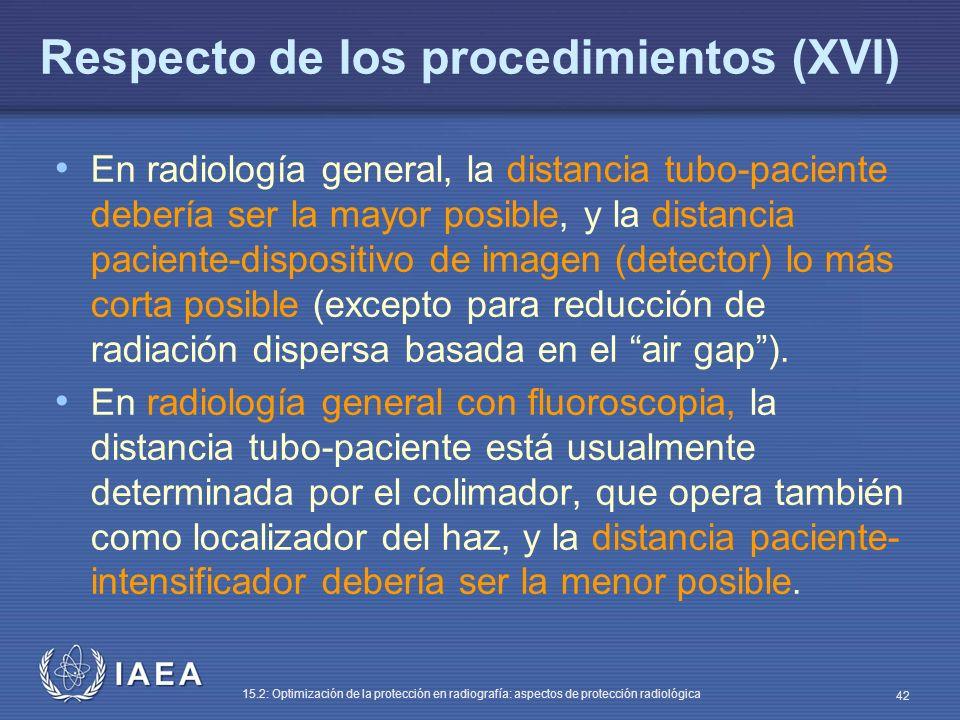 Respecto de los procedimientos (XVI)