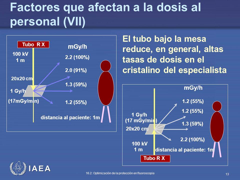 Factores que afectan a la dosis al personal (VII)