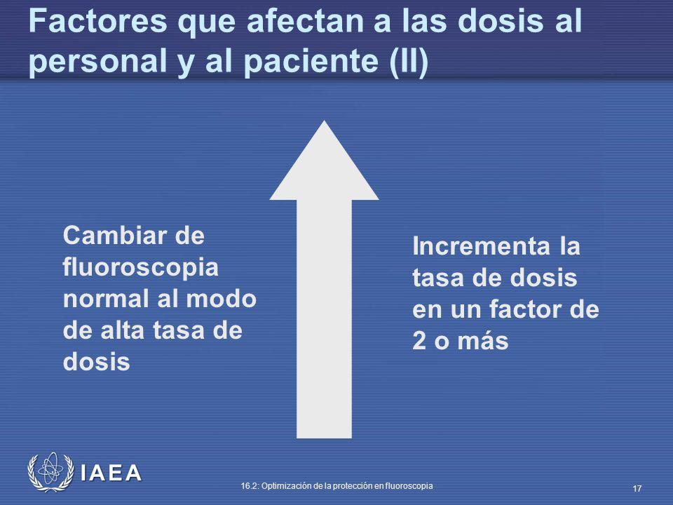 Factores que afectan a las dosis al personal y al paciente (II)