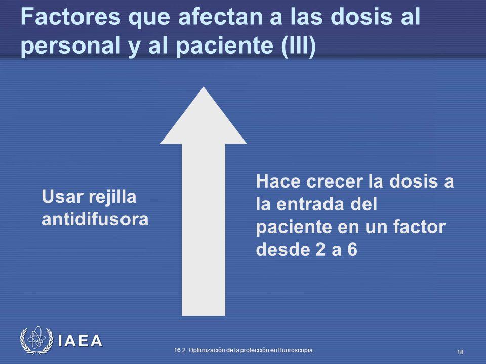 Factores que afectan a las dosis al personal y al paciente (III)