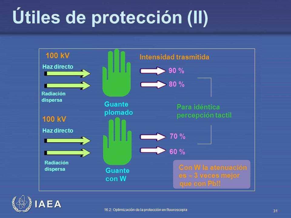 Útiles de protección (II)