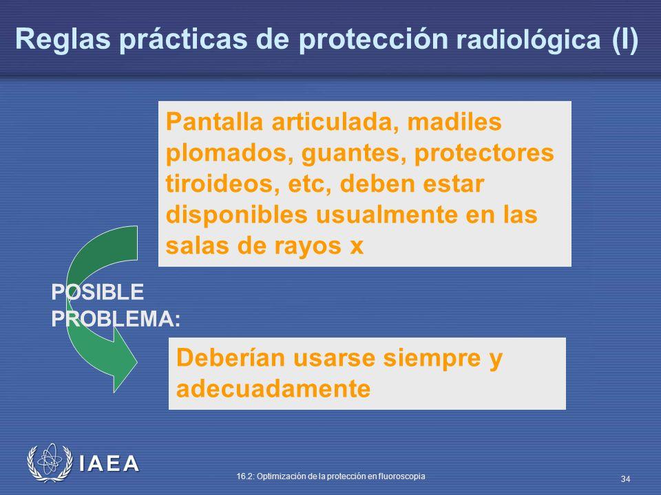 Reglas prácticas de protección radiológica (I)