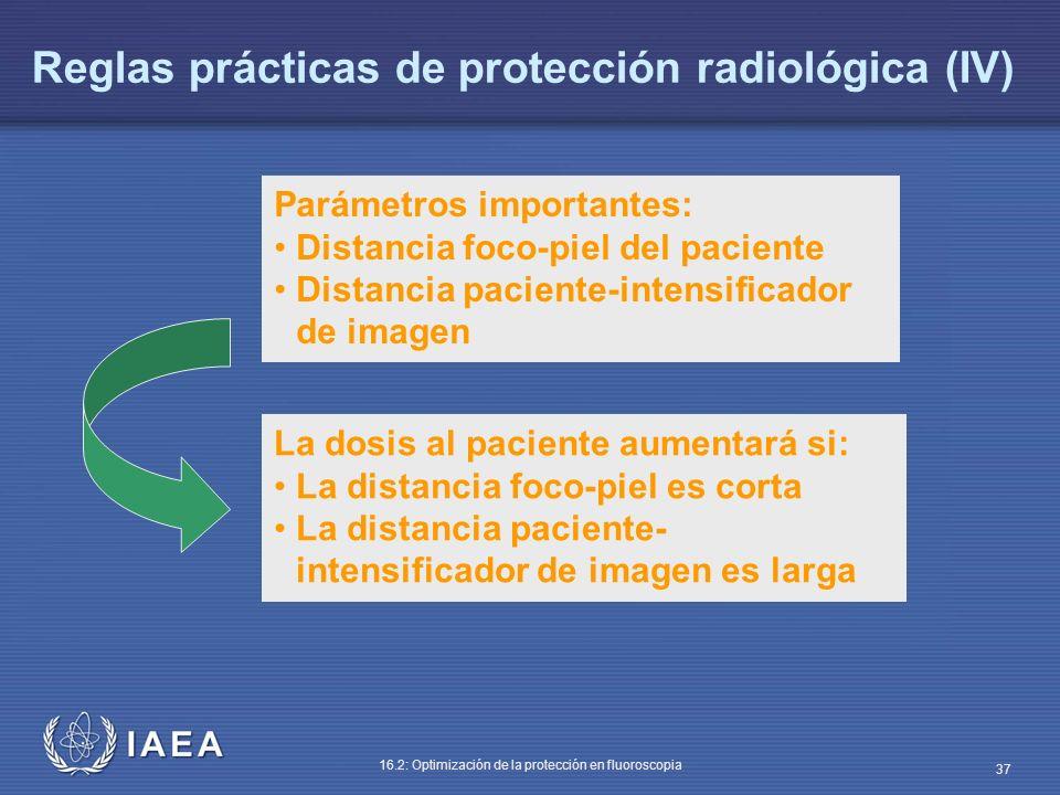 Reglas prácticas de protección radiológica (IV)