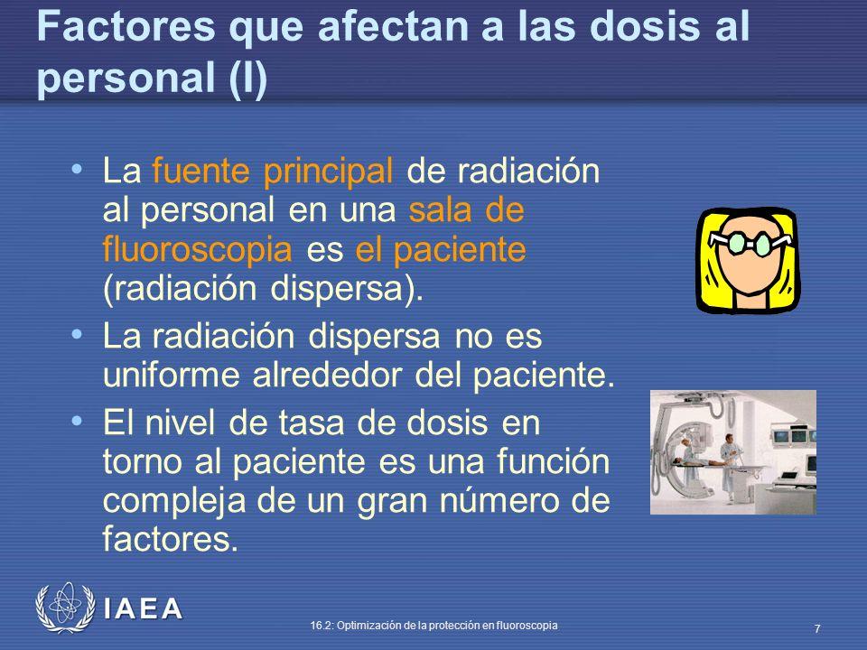 Factores que afectan a las dosis al personal (I)