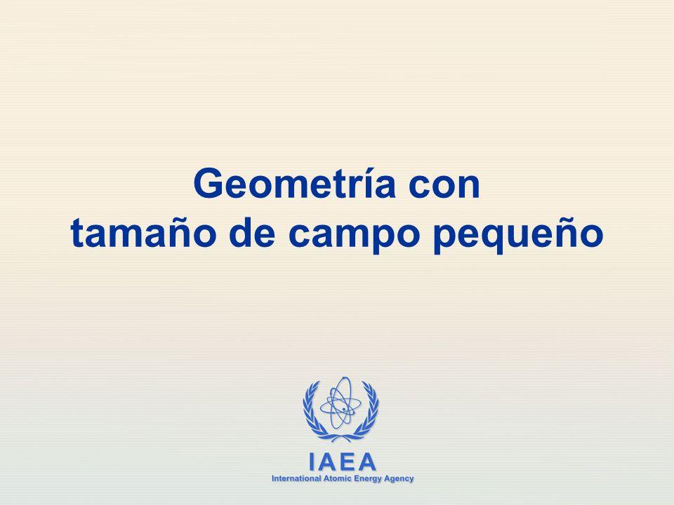 Geometría con tamaño de campo pequeño