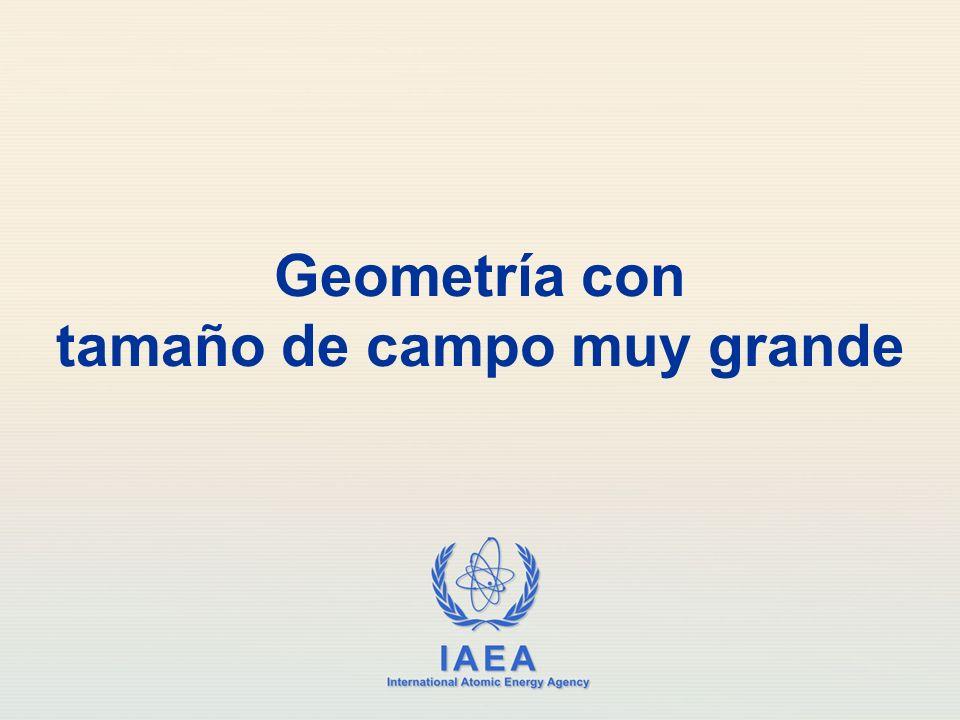 Geometría con tamaño de campo muy grande