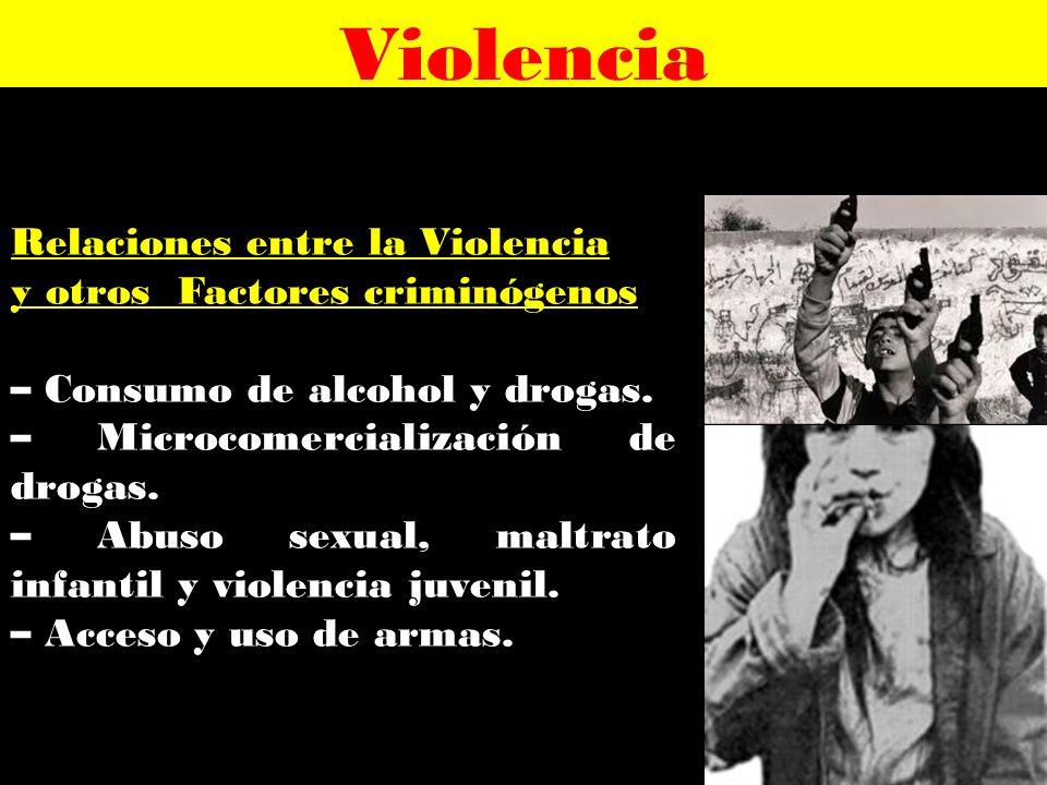 Violencia Relaciones entre la Violencia y otros Factores criminógenos