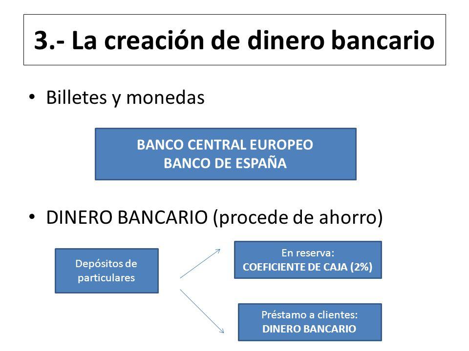 3.- La creación de dinero bancario