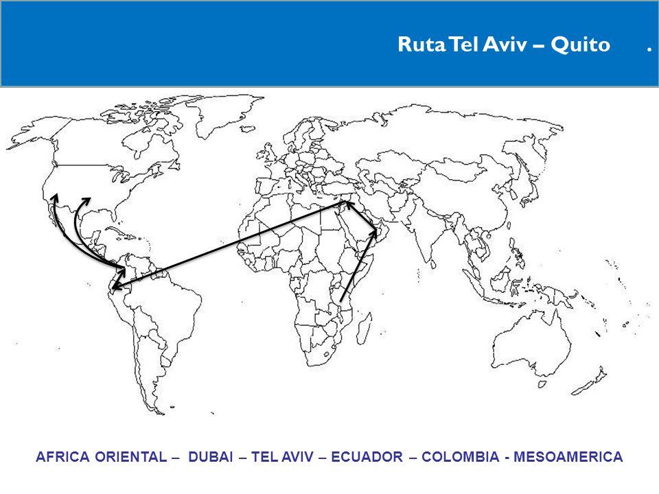 AFRICA ORIENTAL – DUBAI – TEL AVIV – ECUADOR – COLOMBIA - MESOAMERICA