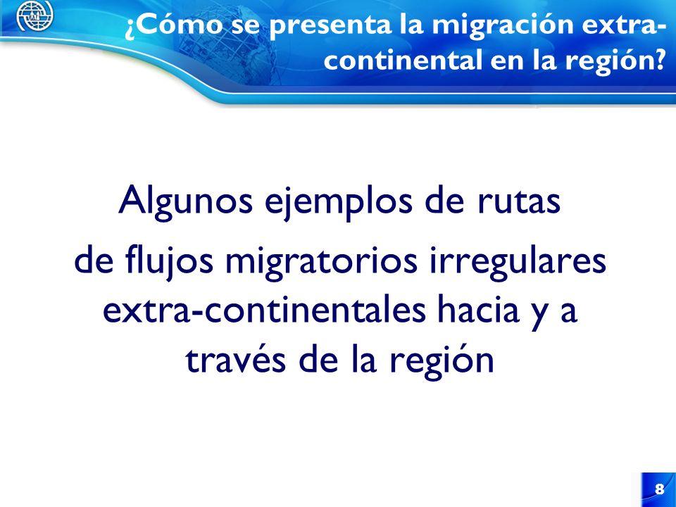 ¿Cómo se presenta la migración extra-continental en la región