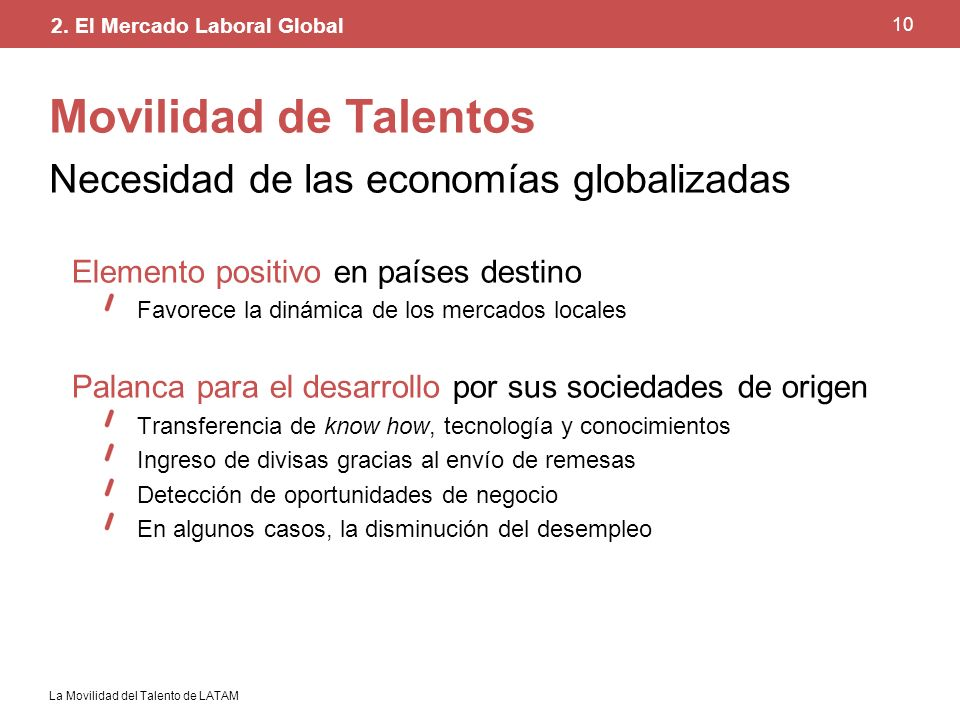 Movilidad de Talentos Necesidad de las economías globalizadas