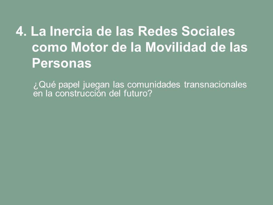 4. La Inercia de las Redes Sociales como Motor de la Movilidad de las Personas