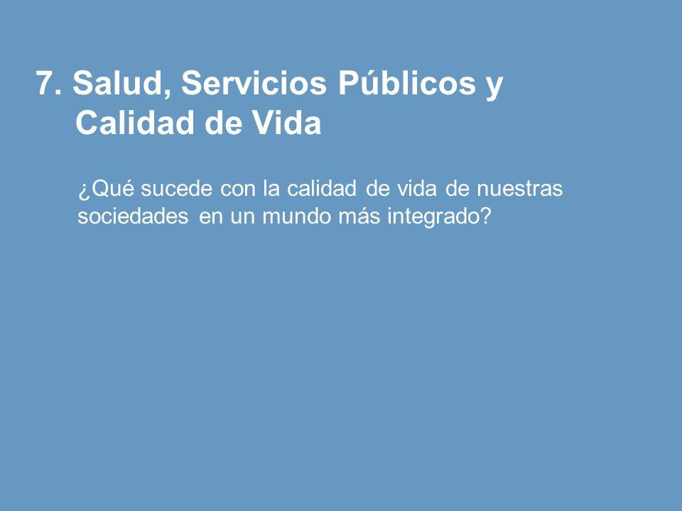 7. Salud, Servicios Públicos y Calidad de Vida