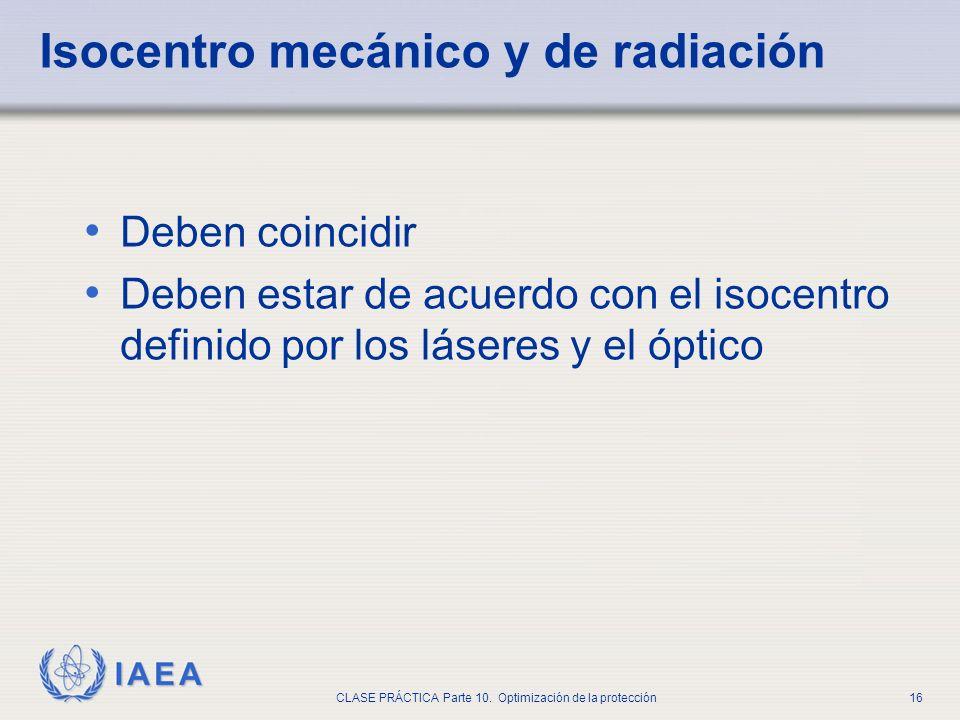 Isocentro mecánico y de radiación
