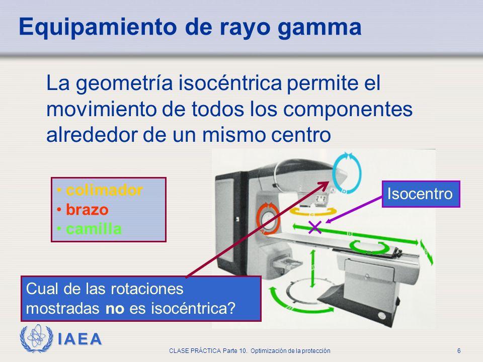 Equipamiento de rayo gamma