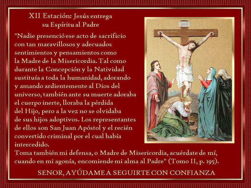 XII Estación: Jesús entrega