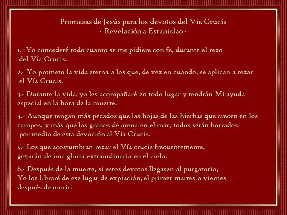 Promesas de Jesús para los devotos del Vía Crucis