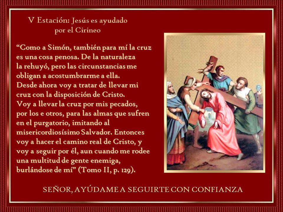 V Estación: Jesús es ayudado por el Cirineo