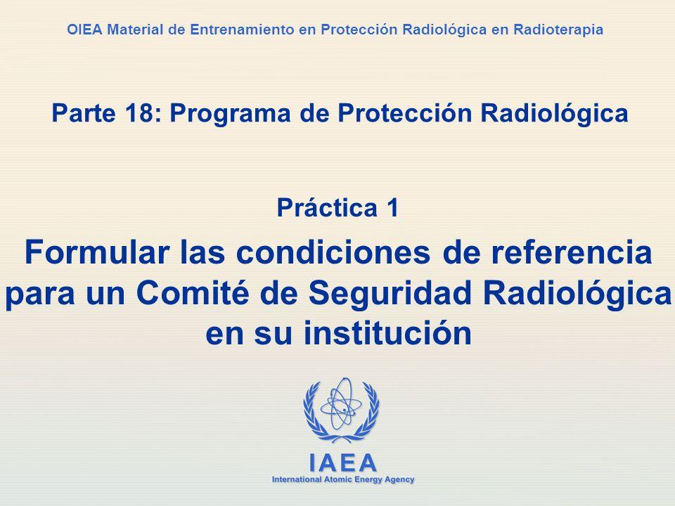 Parte 18: Programa de Protección Radiológica