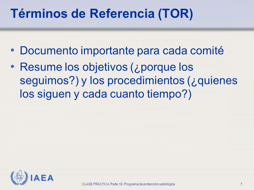 Términos de Referencia (TOR)