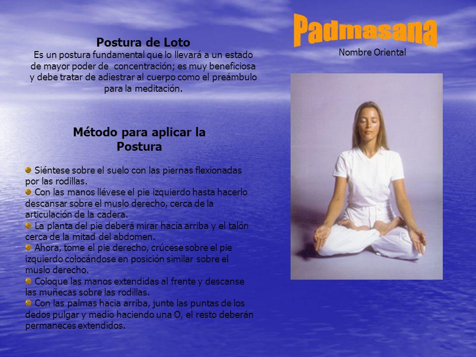 Padmasana Postura de Loto Método para aplicar la Postura
