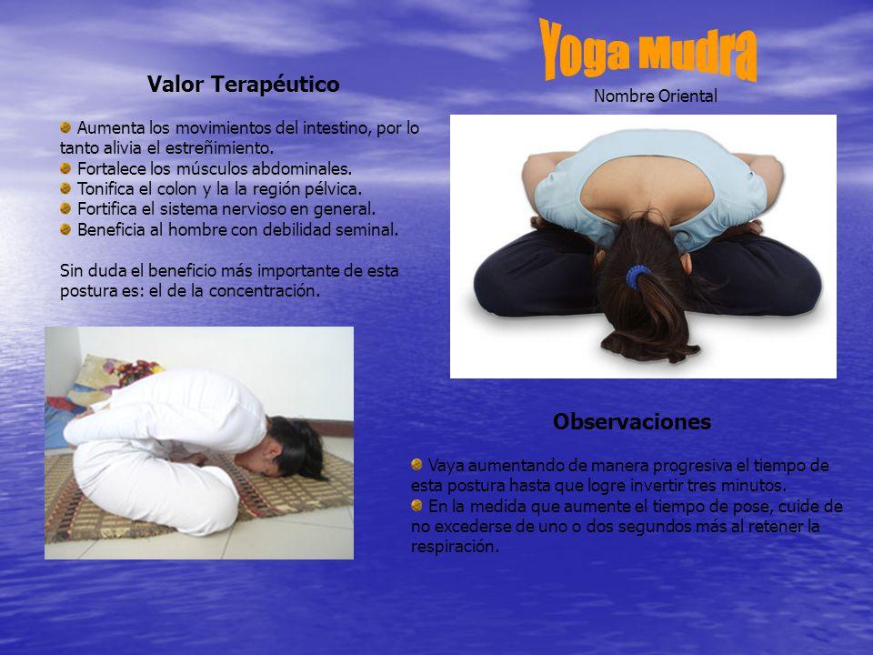 Yoga Mudra Valor Terapéutico Observaciones Nombre Oriental