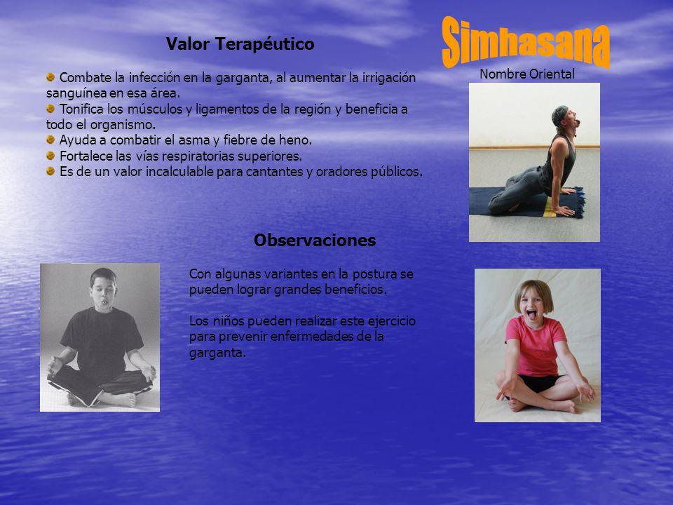 Simhasana Valor Terapéutico Observaciones