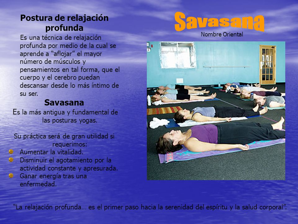 Savasana Postura de relajación profunda Savasana