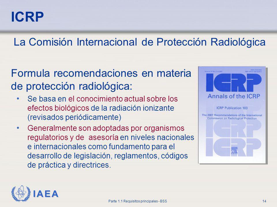 ICRP La Comisión Internacional de Protección Radiológica