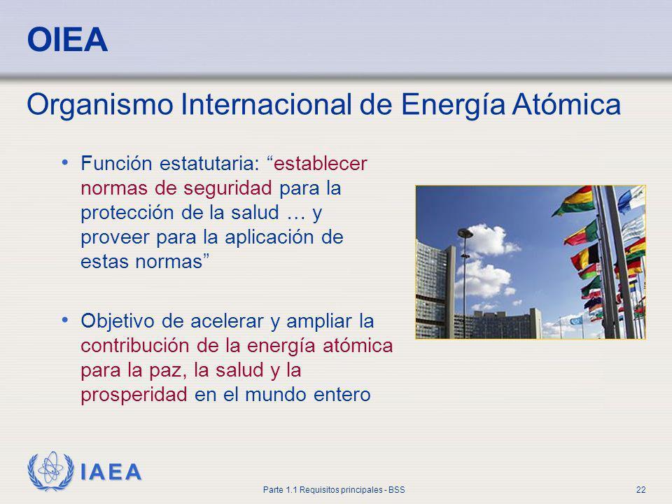 OIEA Organismo Internacional de Energía Atómica