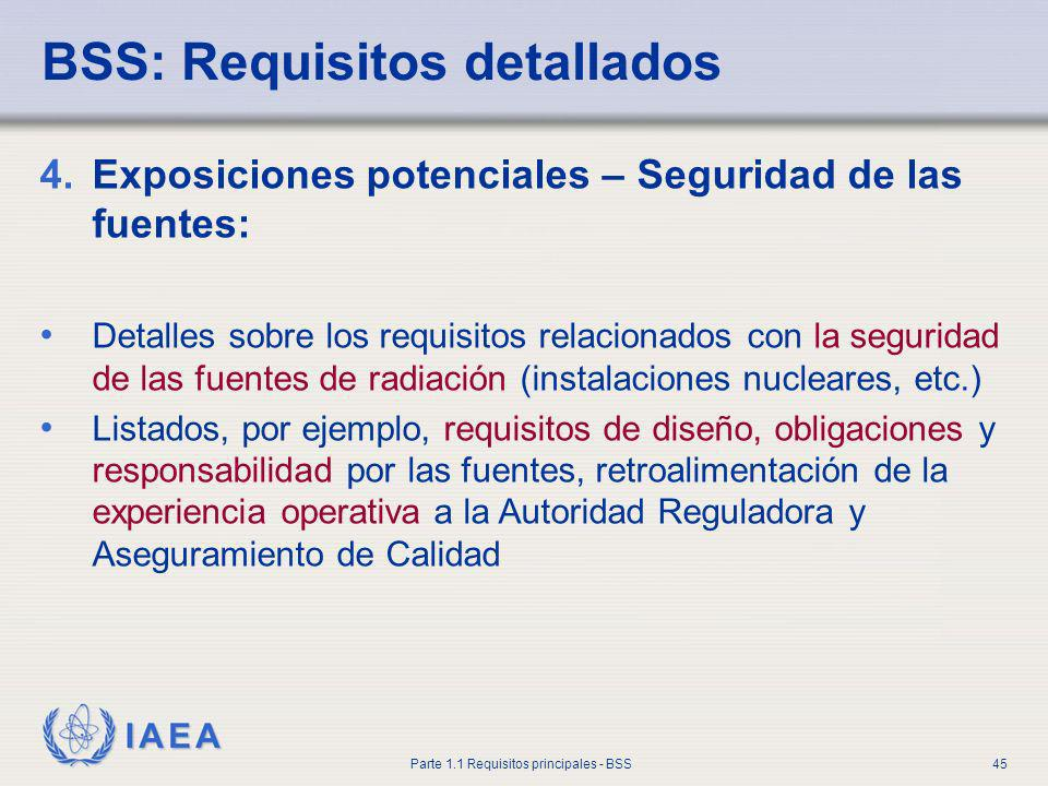 BSS: Requisitos detallados