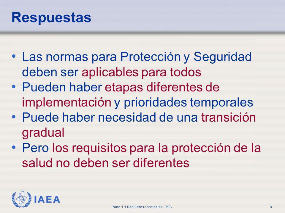 Respuestas Las normas para Protección y Seguridad deben ser aplicables para todos.