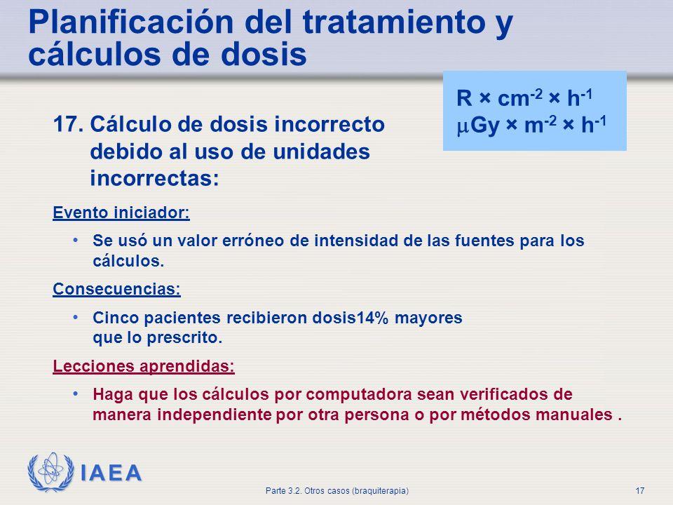 Planificación del tratamiento y cálculos de dosis