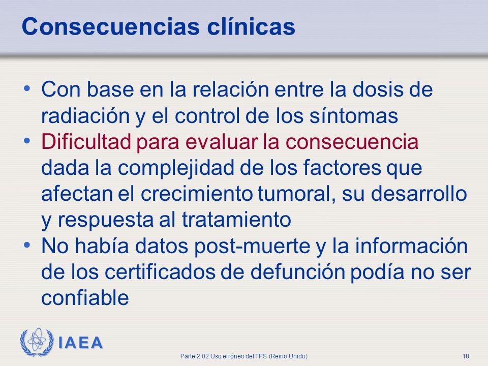 Consecuencias clínicas