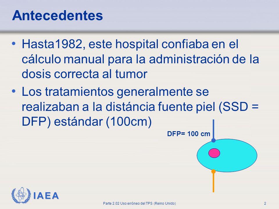 AntecedentesHasta1982, este hospital confiaba en el cálculo manual para la administración de la dosis correcta al tumor.