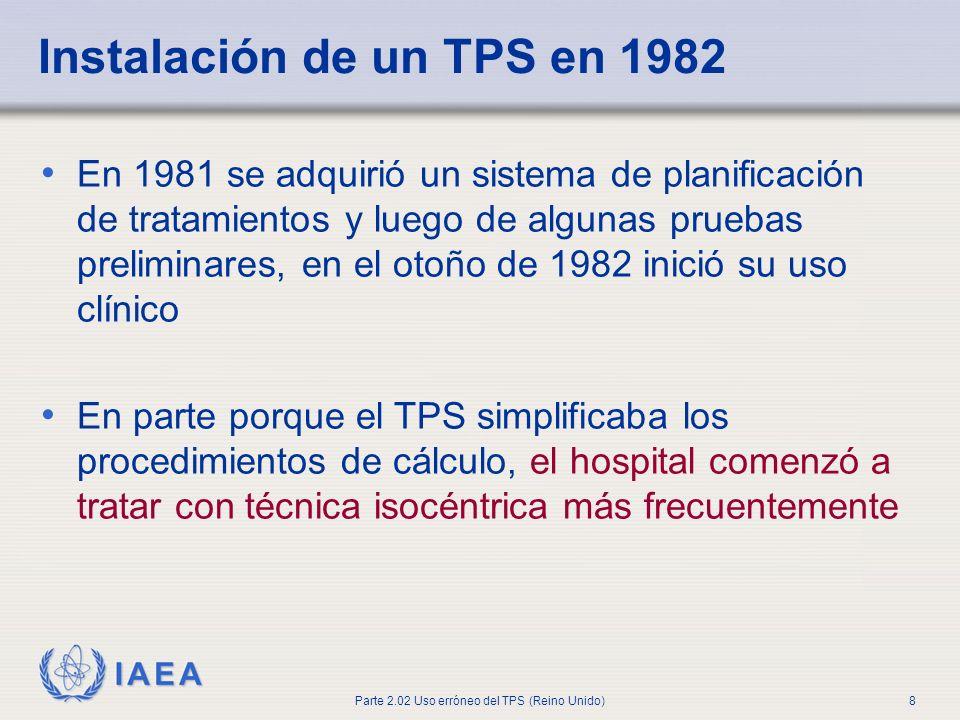 Instalación de un TPS en 1982