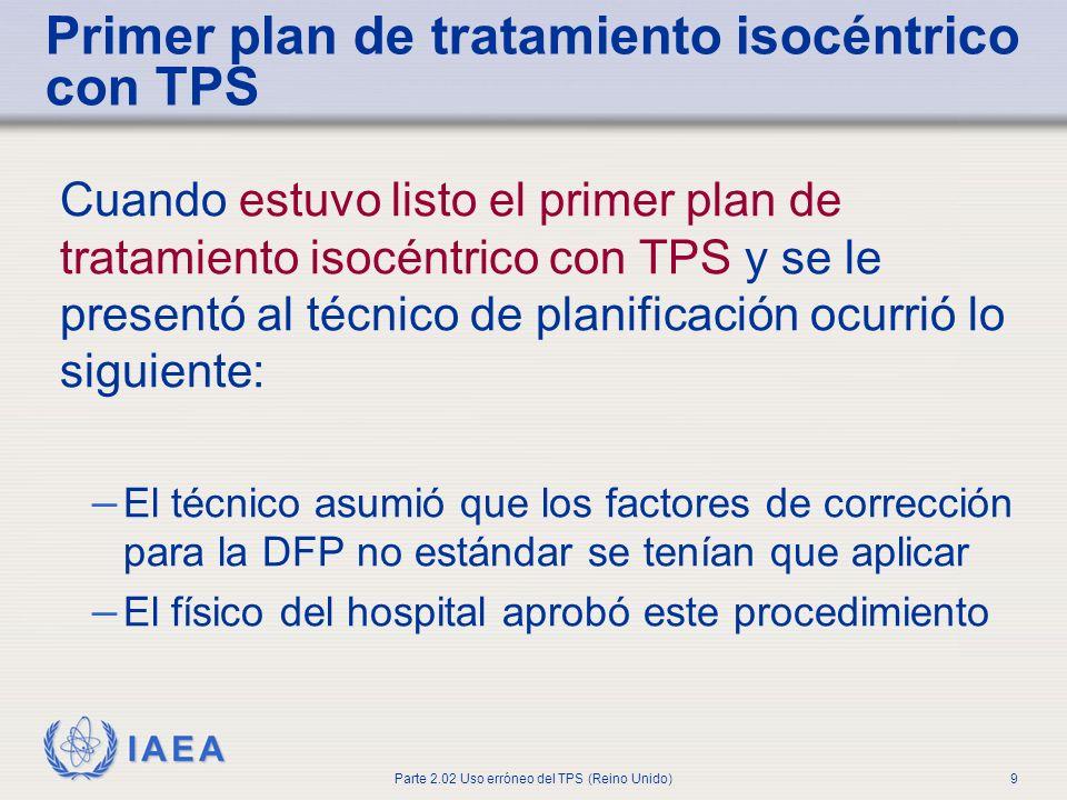 Primer plan de tratamiento isocéntrico con TPS