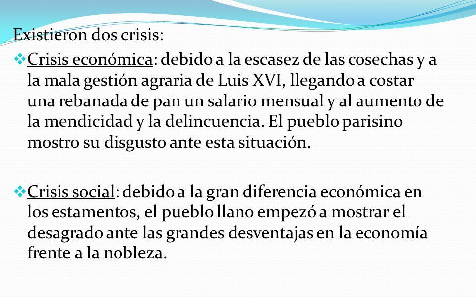 Existieron dos crisis:
