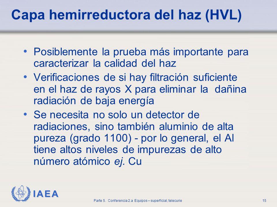Capa hemirreductora del haz (HVL)