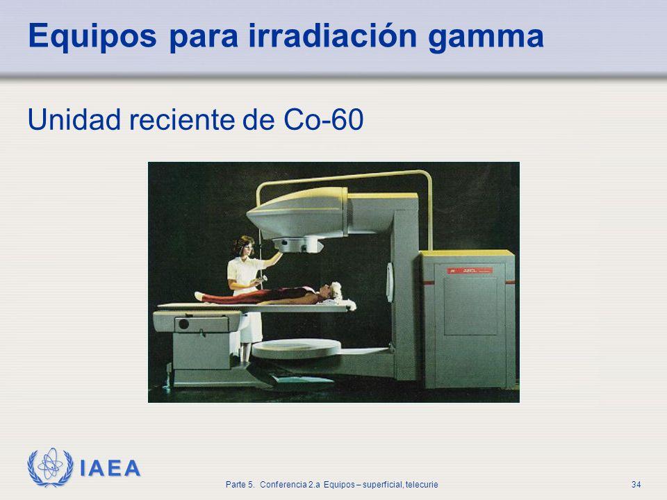 Equipos para irradiación gamma