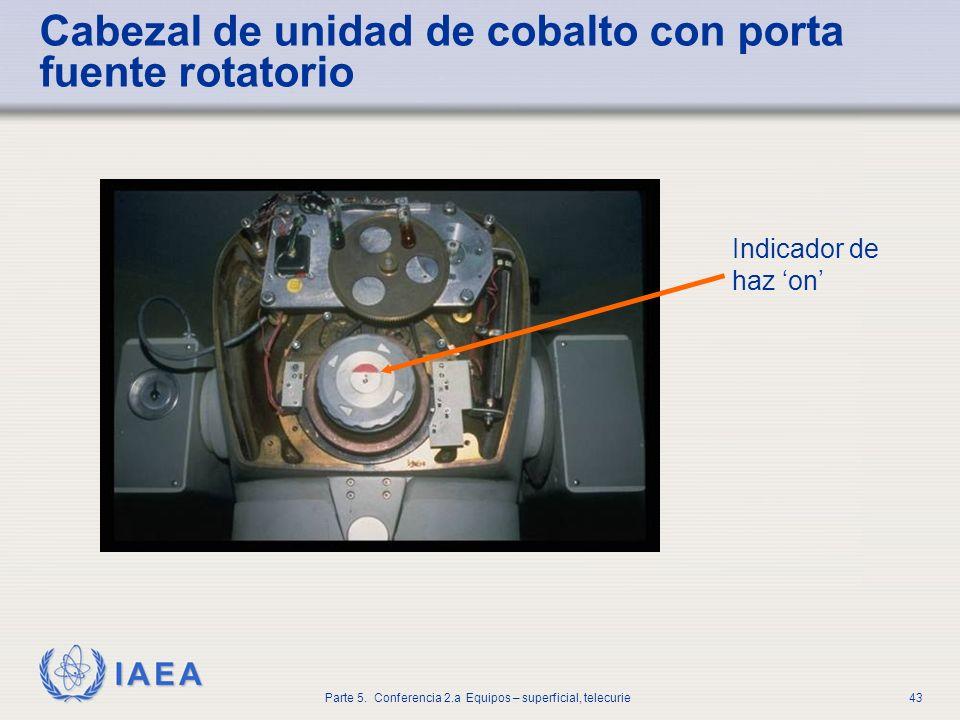 Cabezal de unidad de cobalto con porta fuente rotatorio