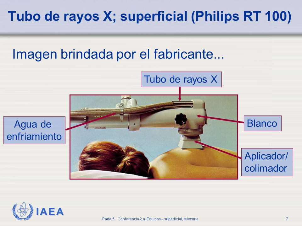 Tubo de rayos X; superficial (Philips RT 100)
