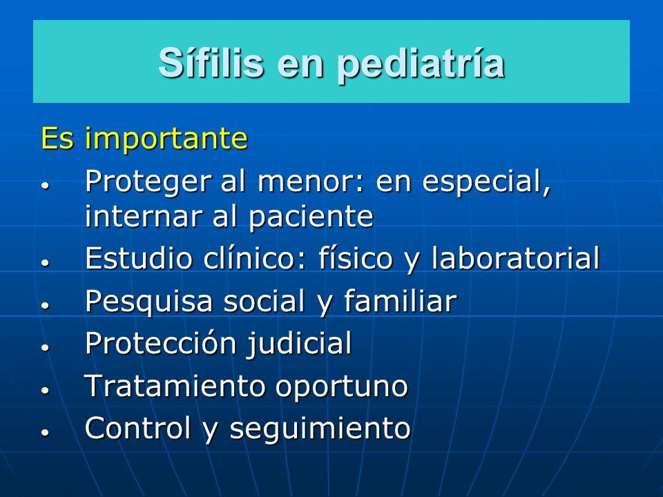 Sífilis en pediatría Es importante