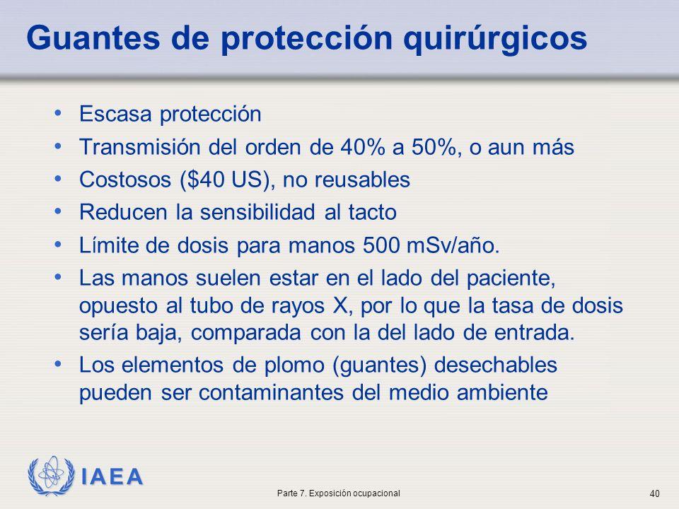 Guantes de protección quirúrgicos