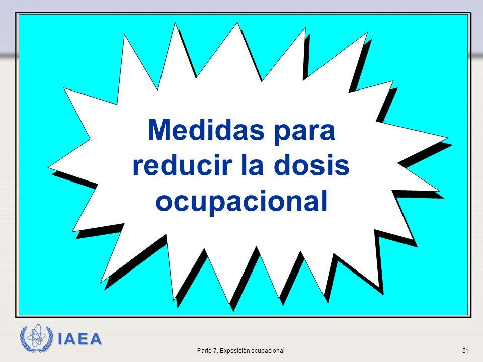 Medidas para reducir la dosis ocupacional