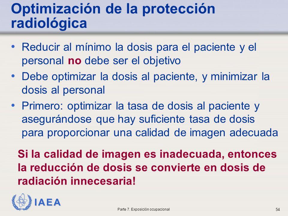 Optimización de la protección radiológica