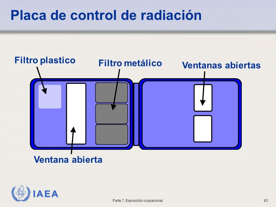 Placa de control de radiación